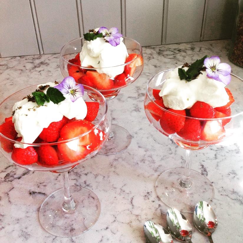 Jordbær med topping