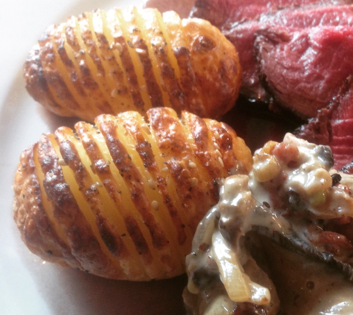 hasselbakte poteter med bacon