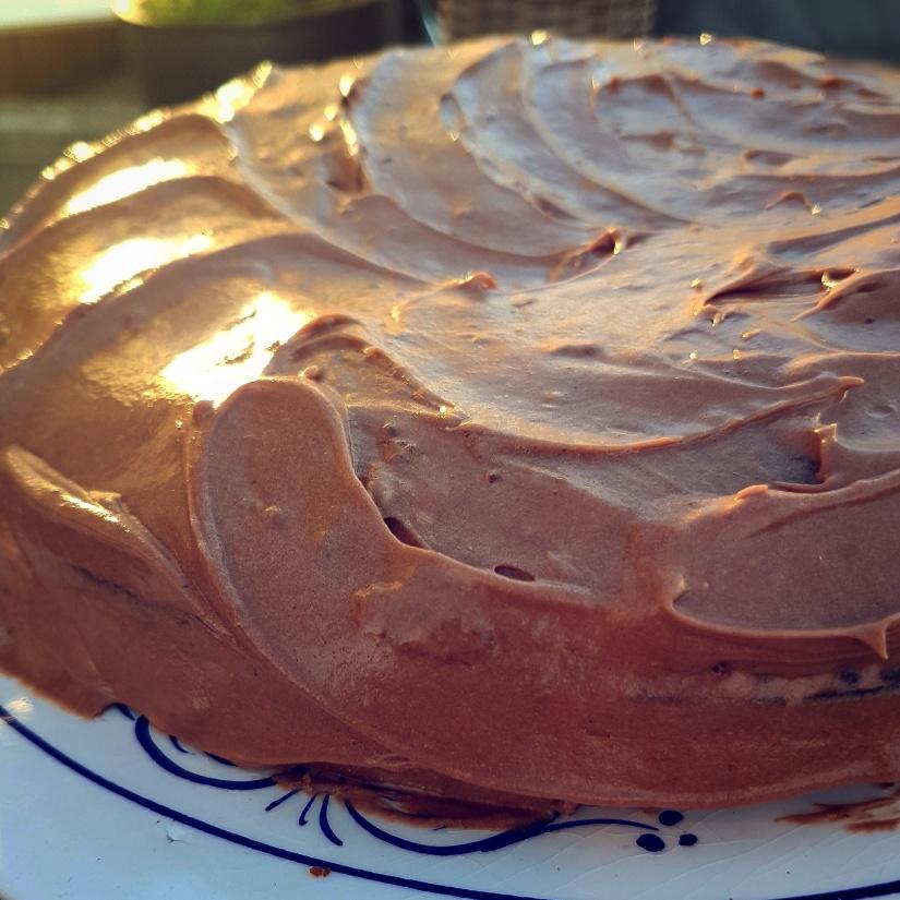 Sjokoladekake i fragamledager.